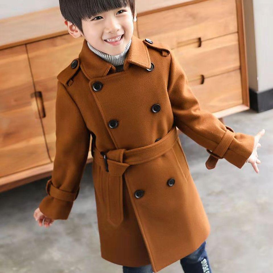 377b1fae68d3f New Baby Boys Winter Coat 3 To 12 Years Children Baby Boy Winter Jacket Boys  Kids Warm Outerwear Turn Down Collar Wool Coats Kids Leather Jacket Boys  Padded ...