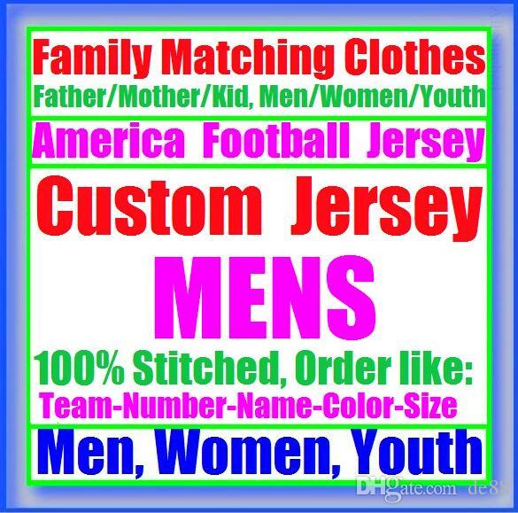 All Stitched Custom american football jerseys Carolina Chicago college authentic cheap baseball basketball mens womens youth USA 4xl league