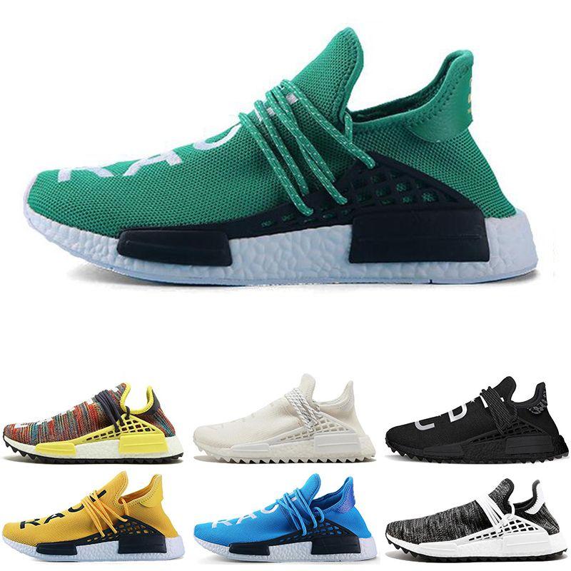 aae72a8427ac2 Compre Adidas NMD Boost Human Race 2019 Limitada Corrida Humana Hr Trilha X  Pharrell Williams Nerd Homens Tênis Branco Igualdade Mens Formadores Para  As ...
