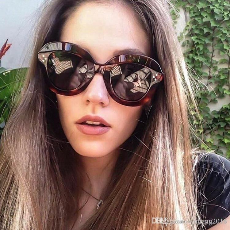1affae8b3eb8 9 Styles 2019 Fashion Sunglasses Women Brand Designer Vintage Sun Glasses  Female Rivet Shades Big Frame Style Eyewear UV400 Bldz005 Mens Eyeglasses  Sport ...