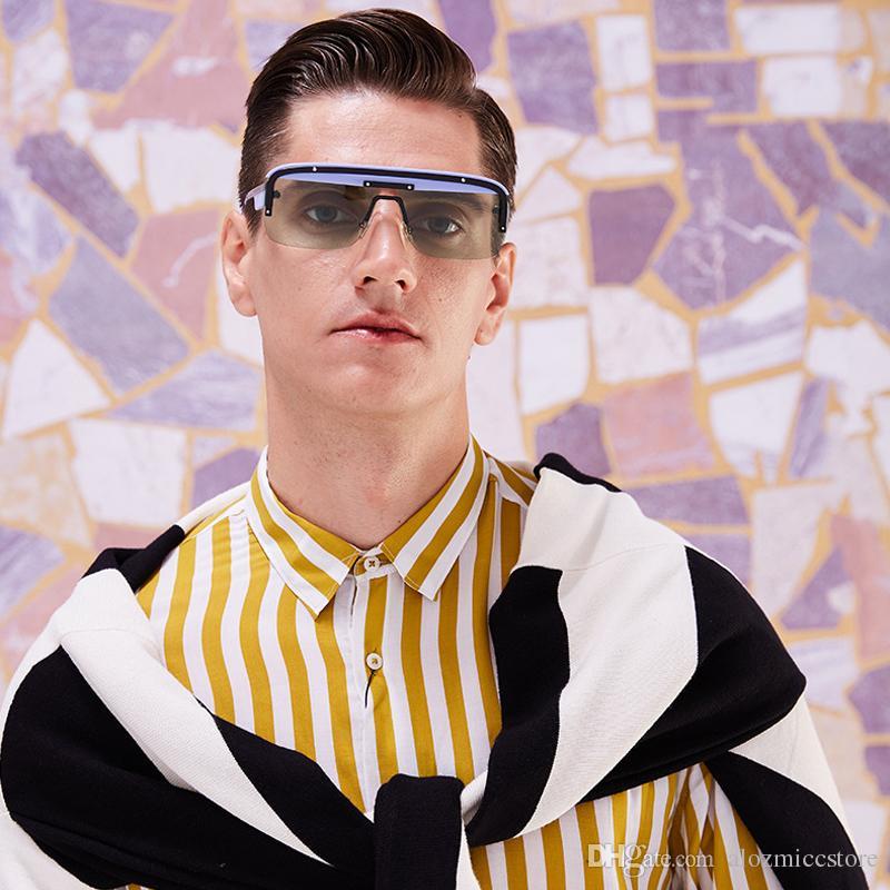 c388d72650c3 2019 Fashion Unisex Square Sunglasses Men Half Frame Brand Designer Sun Glasses  Male Gradient EyewearW86 Sunglasses Uk Polarised Sunglasses From ...