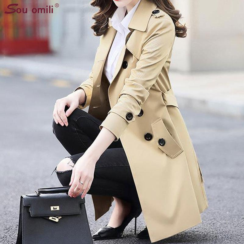 Spring Designed New Fall Coat Women Black White Notch Stand Collar Long Sleeve Oversize Jacket Coat T4190610