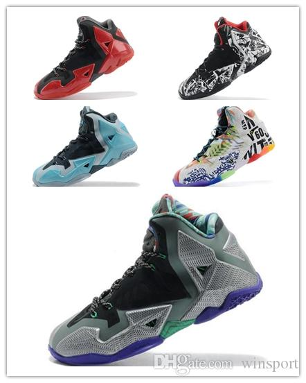 43615f6ab364 Cheap Mens What The Lebron 11 Basketball Shoes For Sale Easter MVP  Championship BHM Red Black Blue Brown Green Glow Sneakers Tennis Boys  Runners Tennis ...