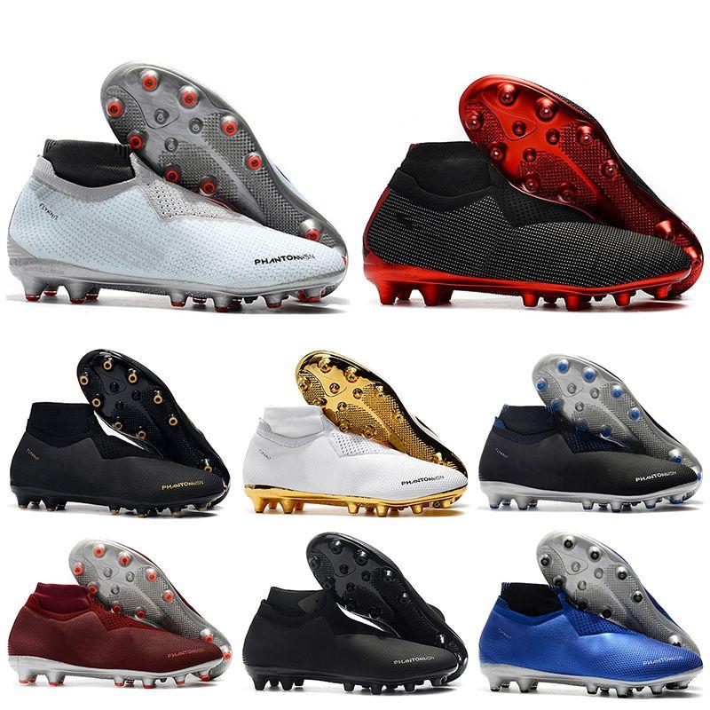 35d5d79b7 2019 New Mens High Ankle Football Boots EA Sports Phantom VSN Shadow Elite  DF AG Soccer Shoes X PSG Phantom Vision Soccer Cleats White Mountain Shoes  ...