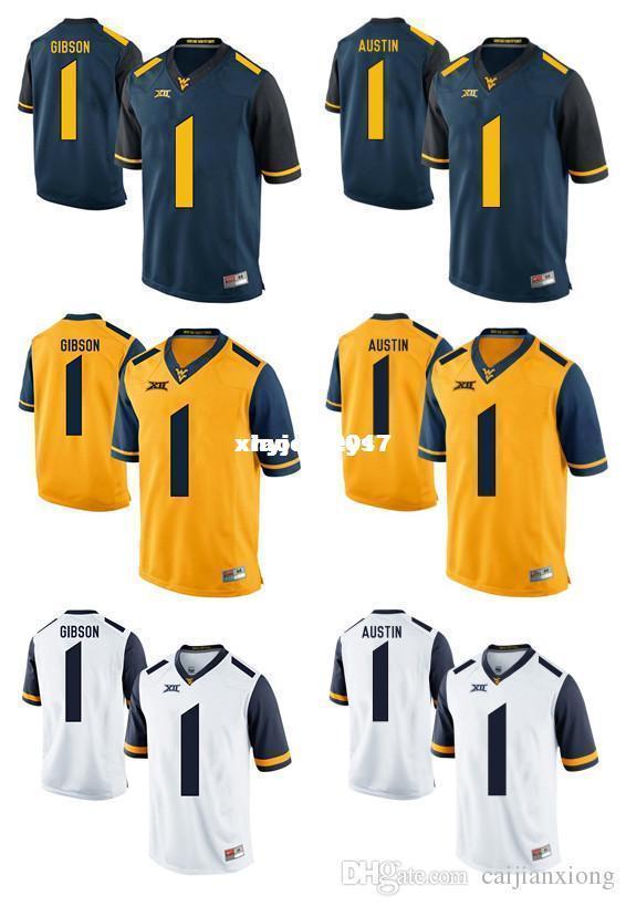 best cheap b385c 22155 Cheap West Virginia Mountaineers Jersey Shelton Gibson 1 Tavon Austin 1  Gold Blue White Men College Football Jersey NCAA