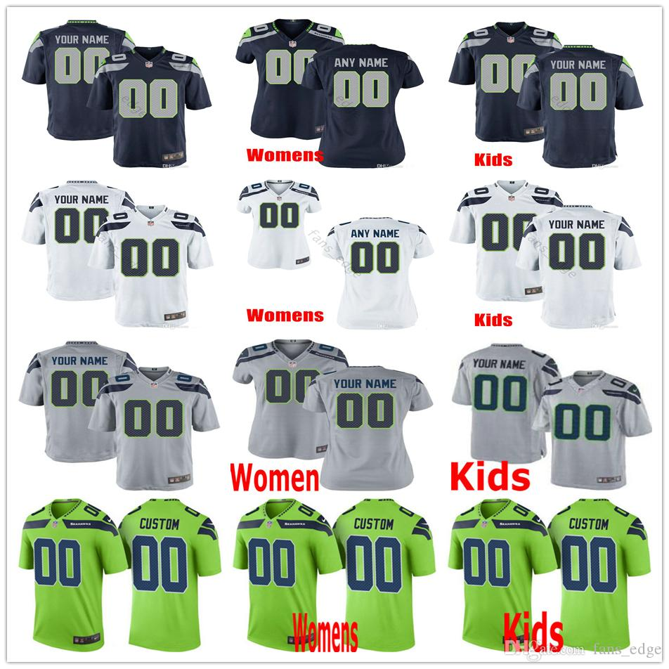 timeless design 2c63d 21c6b Custom Seattle 12th Fan 49 Shaquem Griffin 26 Shaquill 89 Doug Baldwin 54  Bobby Wagner 20 Rashaad Penny Men Women Kids Youth Seahawks Jersey