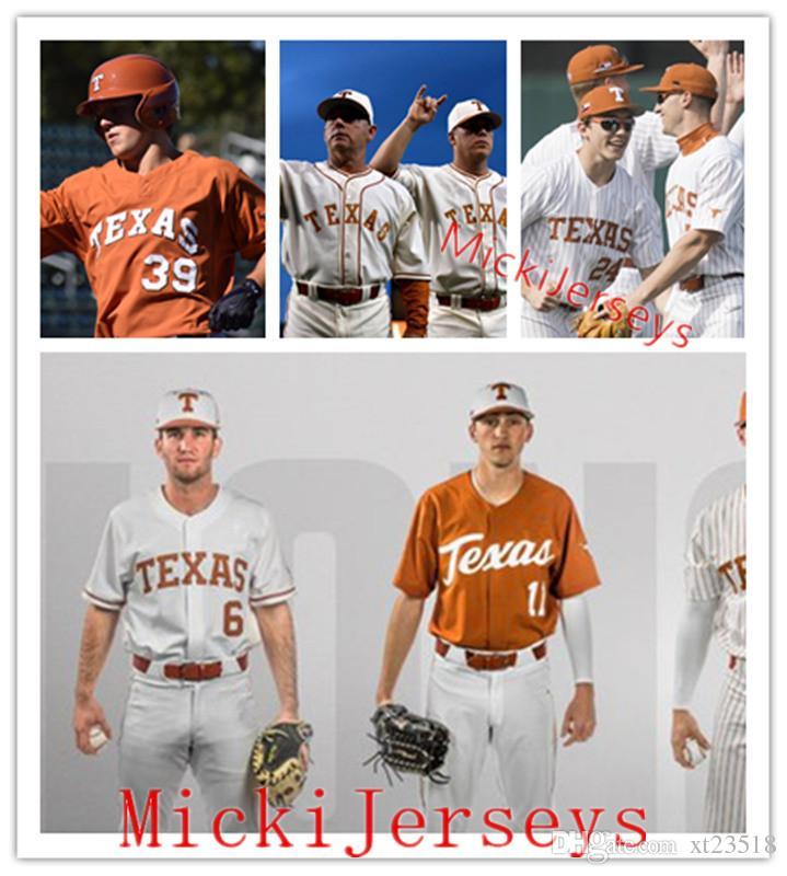 new concept 255f2 e9595 Mens Texas Longhorns Baseball Jersey Augie Garrido David Pierce Corey  Knebel Brandon Belt Roger Clemens Huston Street Taylor Jungmann Jersey