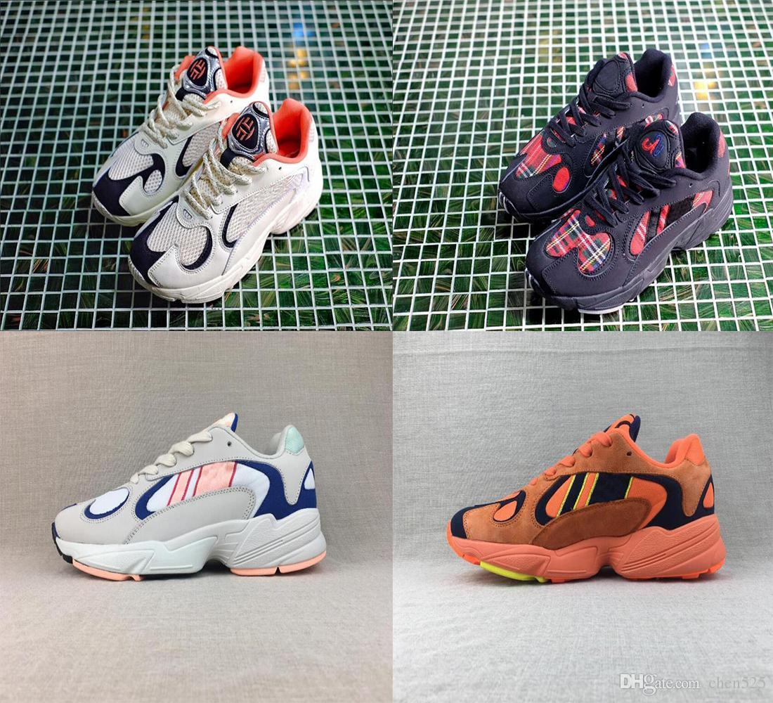 online store d05d9 6a0e2 Acheter 2018 Dragon Ball Z YUNG 1 Kanye West 700 Wave Runner Hommes Femmes  Desginer Chaussures Blanc Orange Sports Dady Sneakers 36 45 De  50.77 Du  Chen525 ...