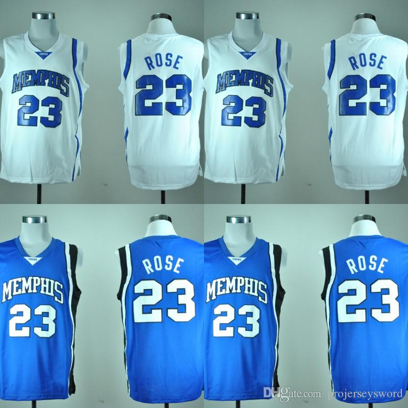 low priced eee85 e9772 #23 Derrick Rose Memphis Tigers NCAA Jersey Mens All Stitched Derrick Rose  University College Basketball Jerseys Fast Shipping
