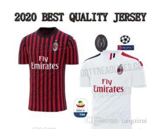 new product ec5c4 156f5 ac Milan Soccer Jersey 19/20 Milano Soccer Shirt Customized #10 CALHANOGLU  #9 HIGUAIN 2019 2020 football JERSEY Sales