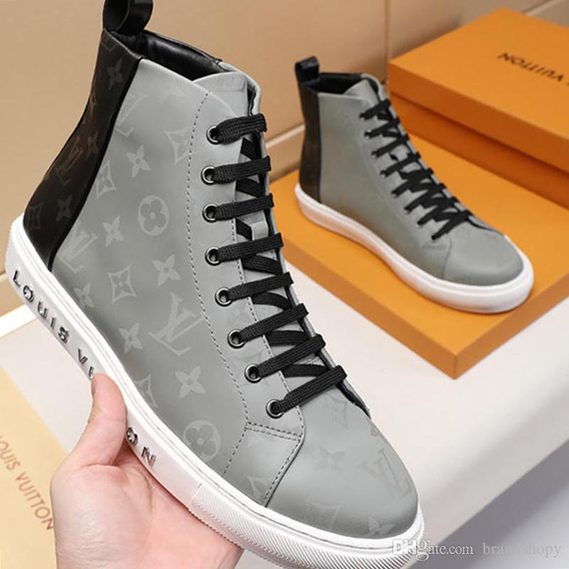 New Arrival Men's Shoes Autumn and Winter Fashion Vintage Leather Scarpe sportive da uomo High Top Lace-up Shoes Sneakers Comfortable