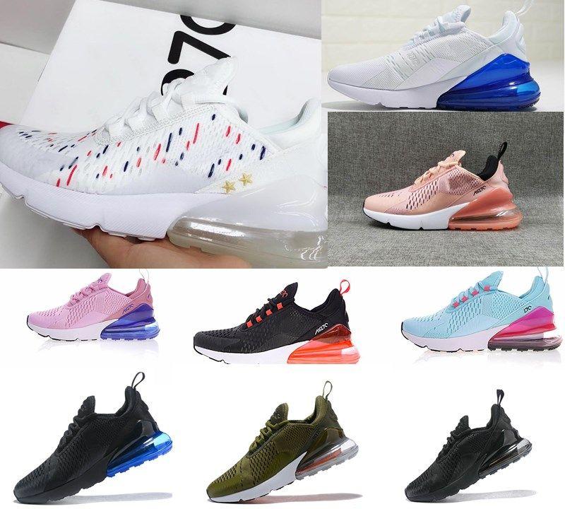 2019 Nuevo estilo Nike Air Max airmax 270 27C Teal zapatos al aire libre 2 estrellas Hombres Flair Triple Negro blanco azul 27C Trainer Calzado
