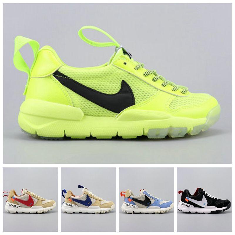 0a64d6d21d1 2019 Tom Sachs X Craft Mars Yard 2.0 TS NASA Running Shoes For Men AA2261  100 Natural Sport Red Sneaker Designer Shoe Zapatillas Vintage Waterproof  Running ...