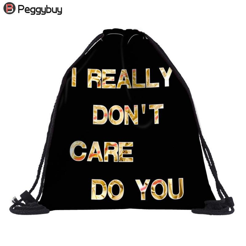 b647a6db67 Printed Beach Drawstring Bags Pouch Outdoor Gym Sports Travel Portable Storage  Backpack For Men Women Rolling Backpacks Backpacks For Men From Diyplant