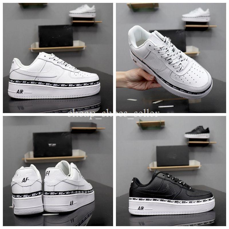 pretty nice ef383 7dbf6 ... De Skate Premium Deportes Blanco Negro Para Hombre Mujer Diseñador  Zapatillas Air Chaussures 1 One Skate Athletic Hombre Zapato Por  Cheap shoes seller, ...
