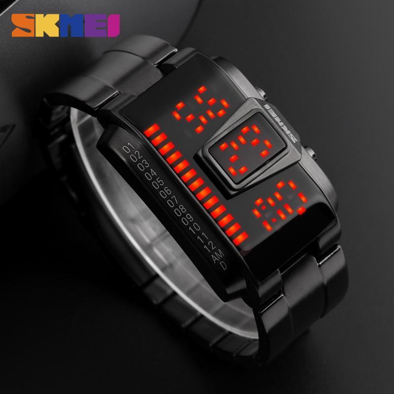 5fde7f8cdf91 Compre SKMEI Relojes Hombres Top Marca De Lujo Reloj Impermeable LED Dígito  Reloj De Pulsera Moda Casual Reloj Creativo Reloj Relogio Masculino A   23.35 Del ...
