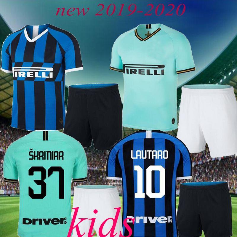 meet 1b830 735c5 Thailand kids SKRINIAR soccer jersey 19 20 ICARDI PERISIC NAINGGOLAN  LAUTARO 2020 VECINO football shirt uniforms kids kit