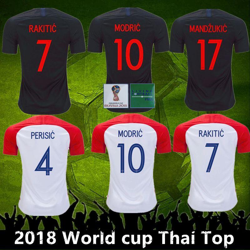 finest selection b8a80 9317c Top Thai 2018 World Cup VIDA REBIC RAKITIC Hrvatska LOVREN Croadia Soccer  Jersey Luka modric Voetbal croazia Football Shirts MANDZUKIC