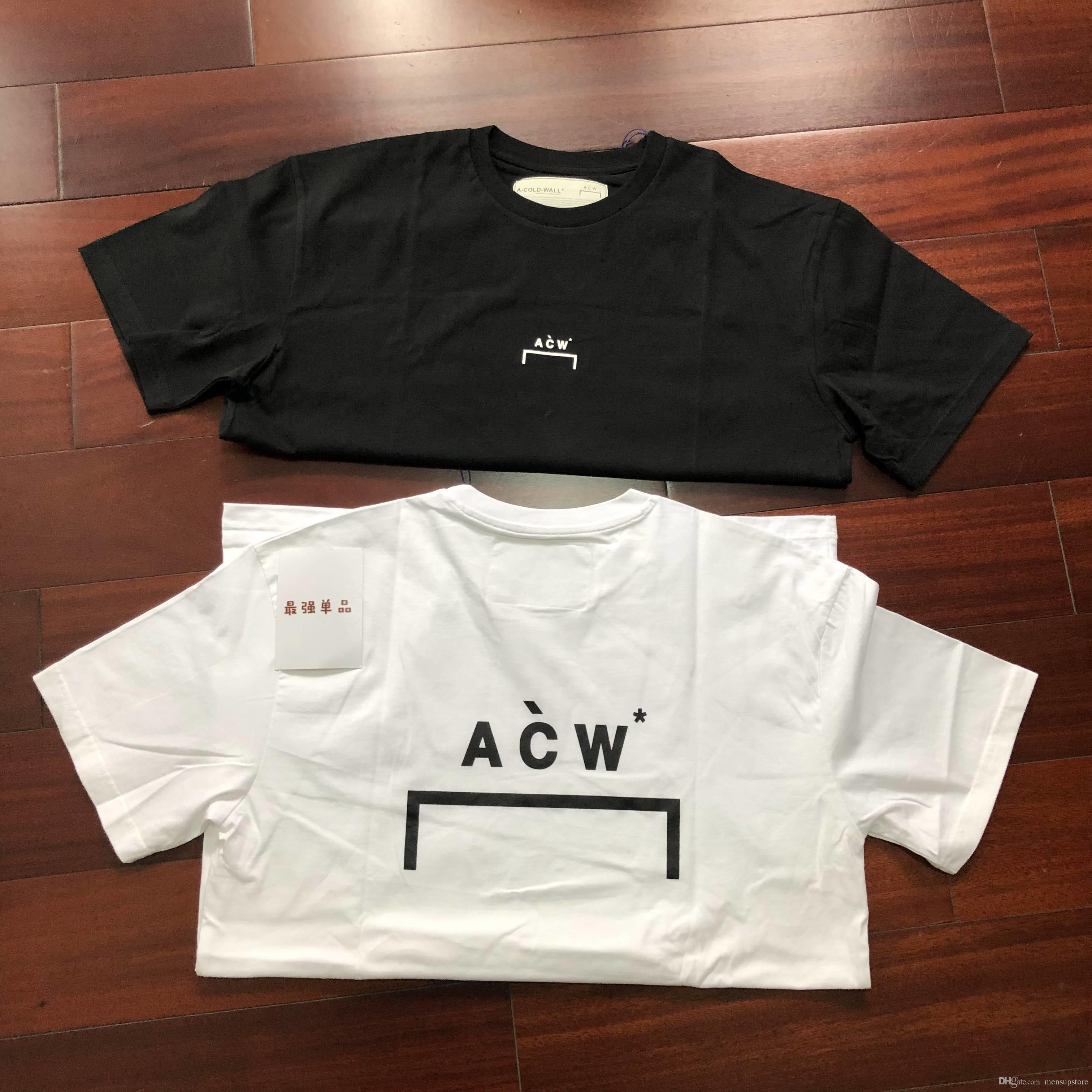430fea1d026 A Cold Wall Summer Tshirts Mens Clothing White Black ACW Basic Tees Hombres  Tops Shirt Custom T Shirts From Mensupstore