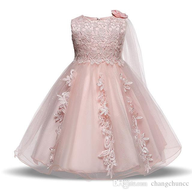 42ca1c38eac1e Baby Dresses for Girls Birthday Bebes Summer Lace Princess Dress Girl  Baptism Gown Infant Party Wear 1 Year Vestido Infantil