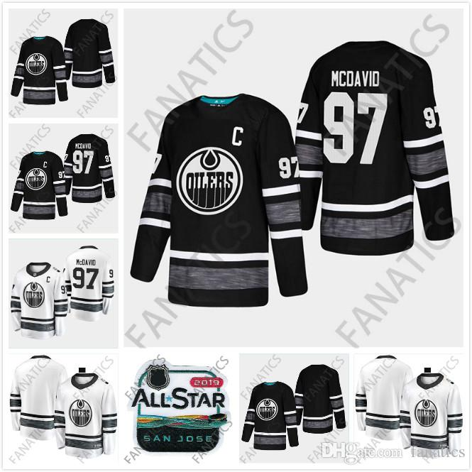 db29e1b66c8 2019 Cheap 2019 All Star Jersey Edmonton Oilers Men 97 Connor McDavid White  Black Blank Top Quality New Patch Hockey Jersey From Fanatics