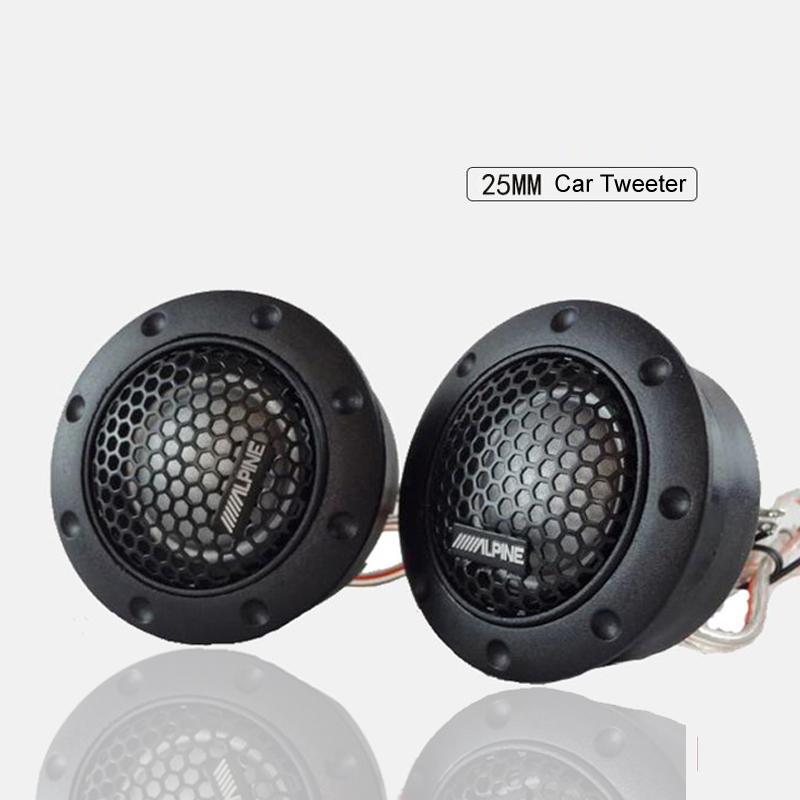 1 25mm Car Dome Tweeter Max 360W High Power Auto 2 5m Loud Speaker Auto  Treble HIFI Smart Audio Component Speaker