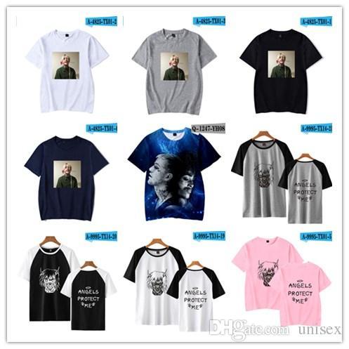 38d1c854b LIL PEEP T SHIRTS BLACK WHITE Jurney Print T Shirt Cool Xxxtentacion Tshirt  Brand Shirts Print Colour Harajuku Men T Shirt Humor T Shirts Funky T Shirt  From ...