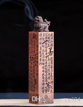 Antique copper alloy incense burner incense stick with agarwood incense  burner heart classic vertical home sandalwood furnace