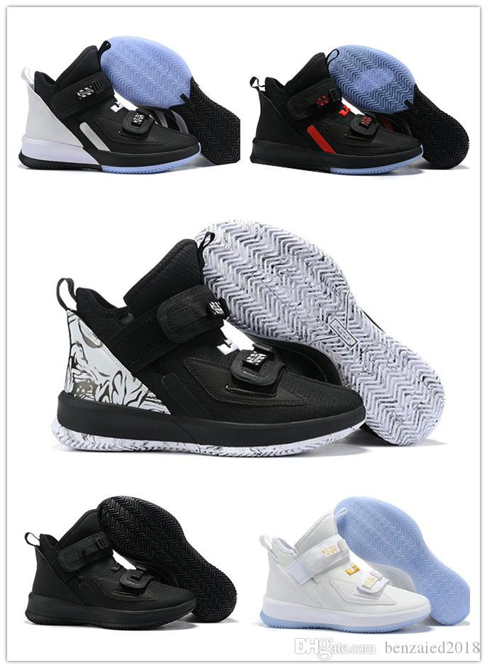 on sale 0fc92 0ed62 2019 New Arrival Soldier 13 XIII Men s Fashion Basketball Shoes For High  Quality Black White Ice Blue Soldiers 13s Sports Sneakers US 7-12