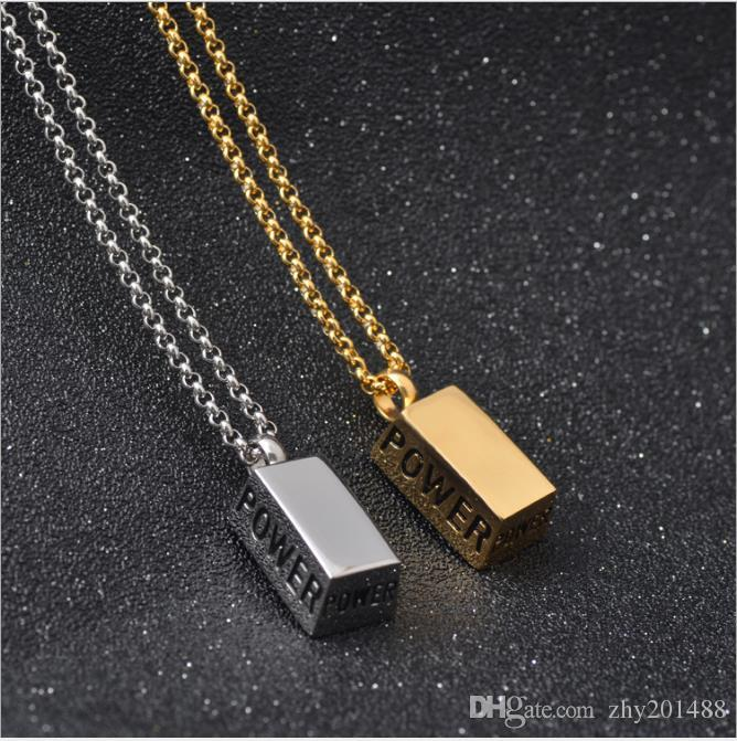 Creative New Korean Titanium Steel Box Retro Men's Necklace Pendant