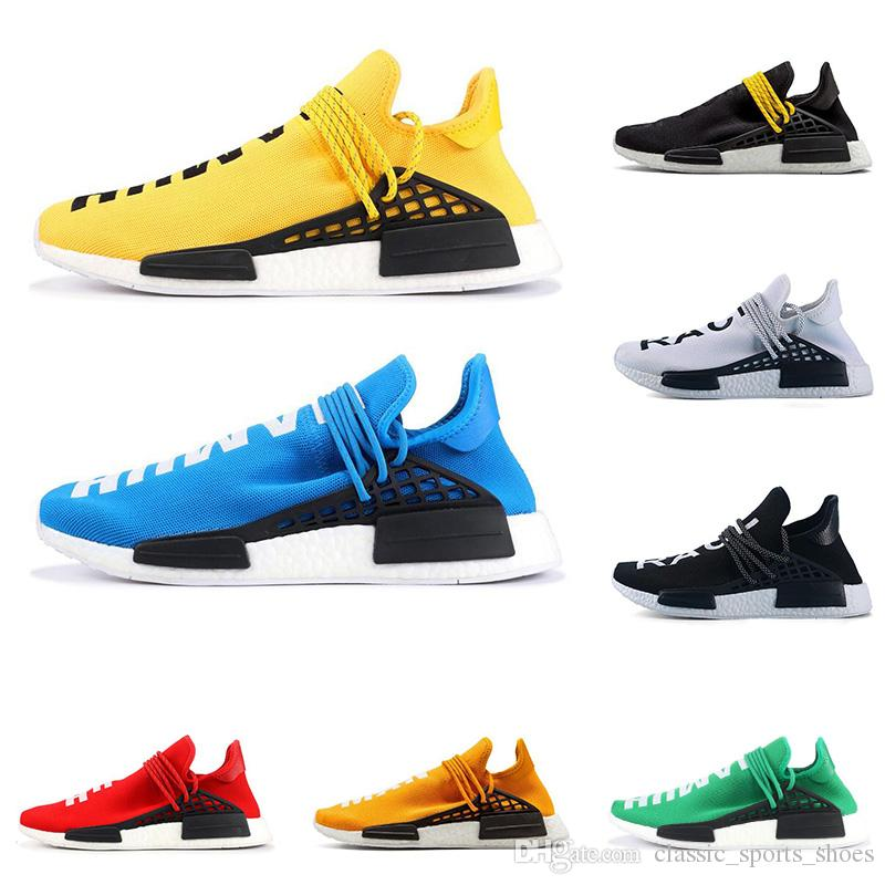 a6507c8ada155 2019 2019 PW Human Race NMD PHARRELL WILLIAMS Men Women Running Shoes  Yellow Red Blue Black White Mens Trainer Breathable Sports Sneakers From ...