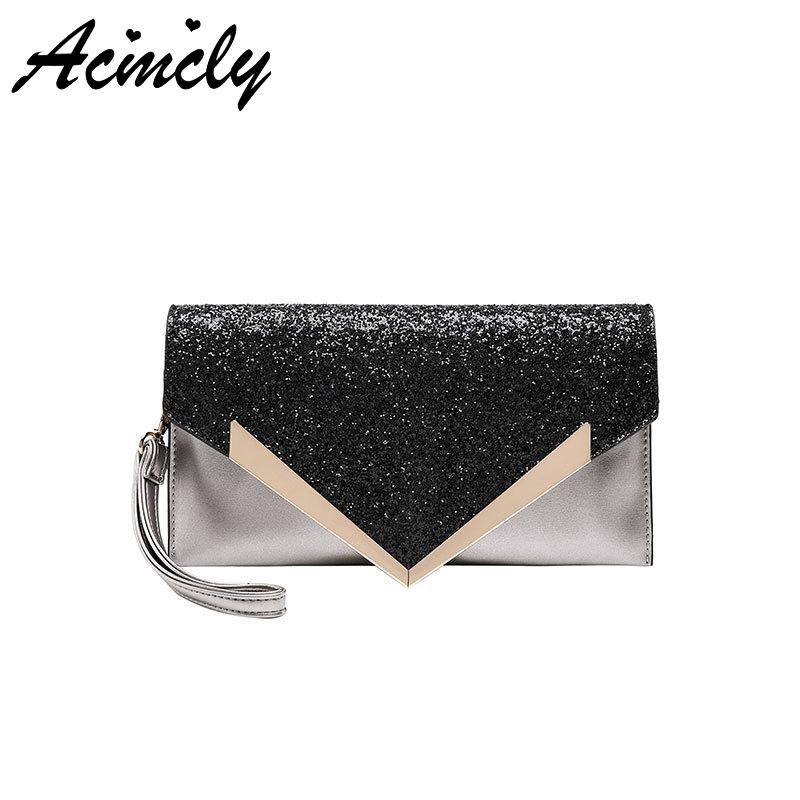 c5559b38b4 2019 New Fashion Clutch Bag For Women Casual High Quality Phone Package Day  Clutches PU Leather Makeup Bags Sequined Handbag Hot Cheap Purses Handbags  For ...