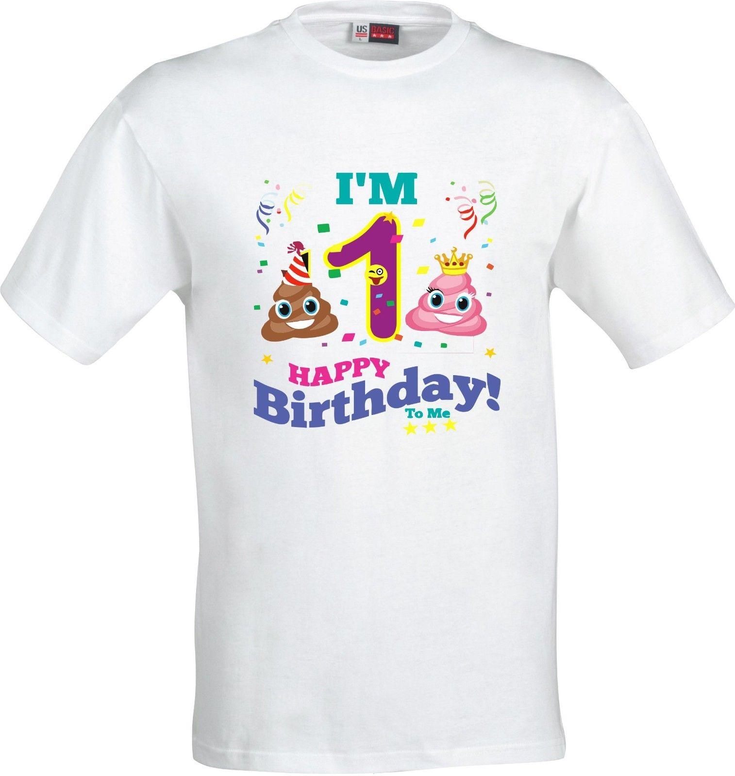 HAPPY BIRTHDAY POOP EMOJI FULL COLOR SUBLIMATION T SHIRT Funny Unisex Casual Tee Gift Coolest Shirt Shirts With Designs From Trendsspace 1296