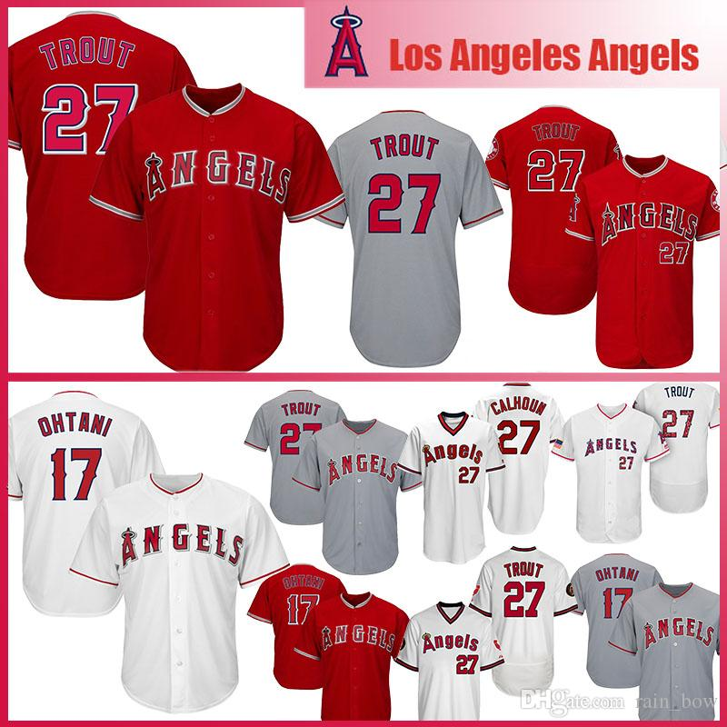 011a0cf3321 mike trout angels throwback jersey 2019 Mens Los Angeles Baseball ...
