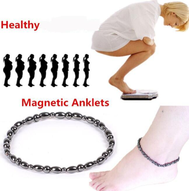 DHL Women Fashion Foot Bead Chain Magnetic Therapy natural Stone Ankle Bracelet Beach Barefoot Sandal Foot Anklet