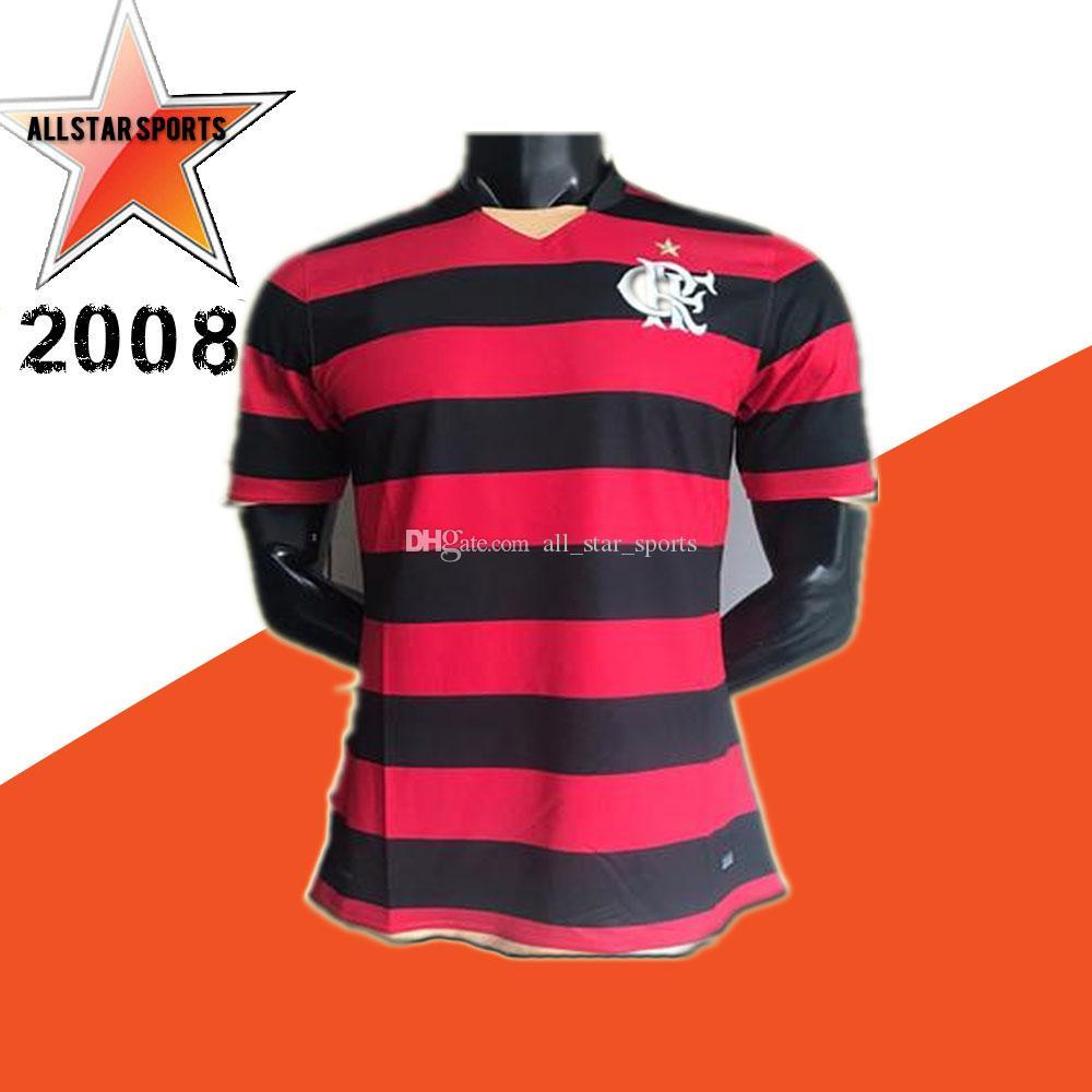 super popular aee08 f3a37 Retro 2008 Brasilien Flamengo Trikot Flämisch RJ 10 Adriano voller Sponsor  Retro Großhandel Fußball Trikots Fußball Wear Jerseys