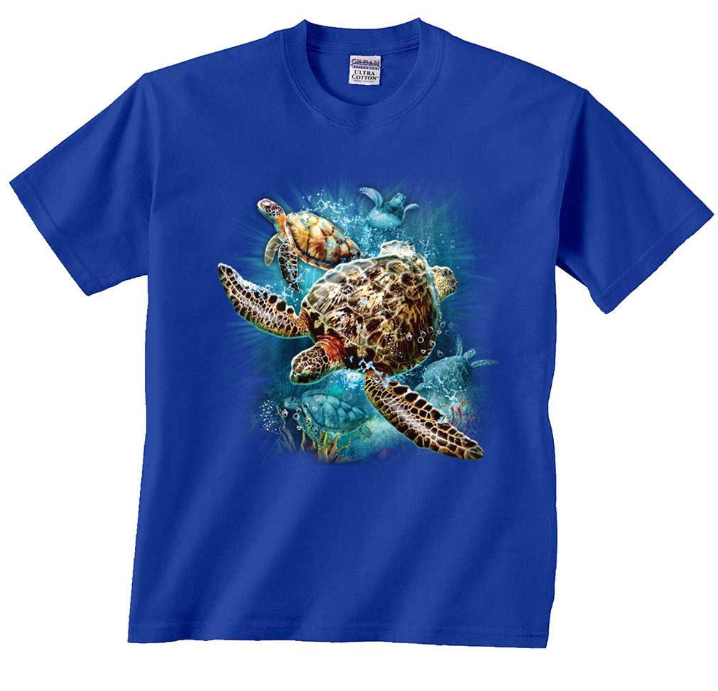 8ed2278c0 Compre Camiseta Del Collage De Kingdom De Las Tortugas Marinas Envío Gratis  Divertido Unisex Camiseta Ocasional A $12.96 Del Tshirtsinc | DHgate.Com