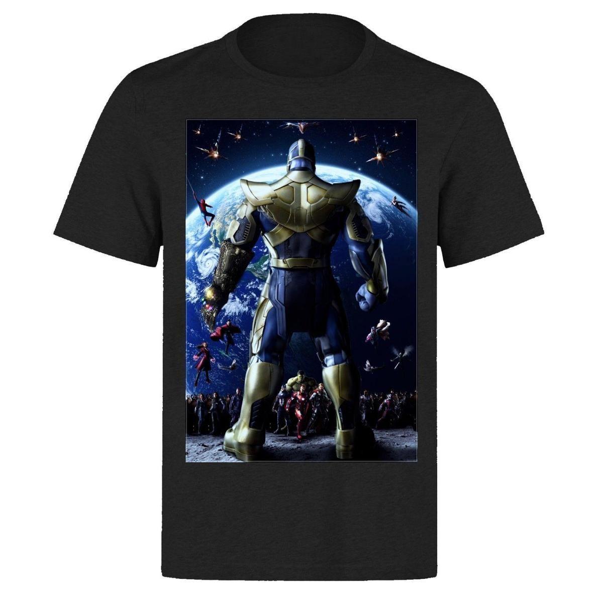 7a24a674b7 Mens Designer T Shirts Shirt THANOS VS THE WORLD AVENGERS INFINITY WAR PART  1 TONY STARK PH281 T SHIRT Design Your T Shirt Personalized T Shirt From ...