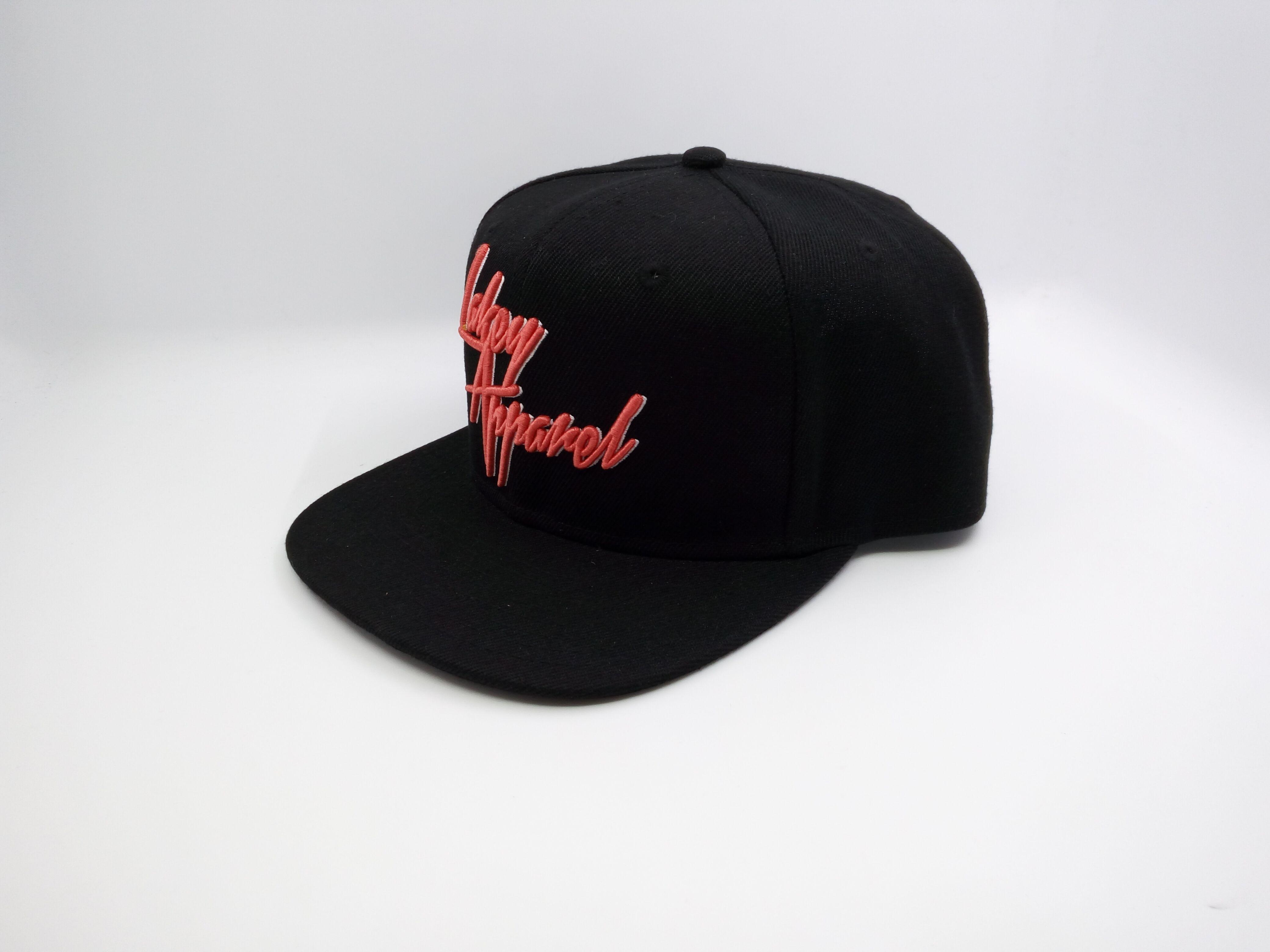 Main Product Wholesale Black 6 panel Embroidery Snapback Cap Flat Brim Hip Hop Cap Manufactures Custom Caps And Hats