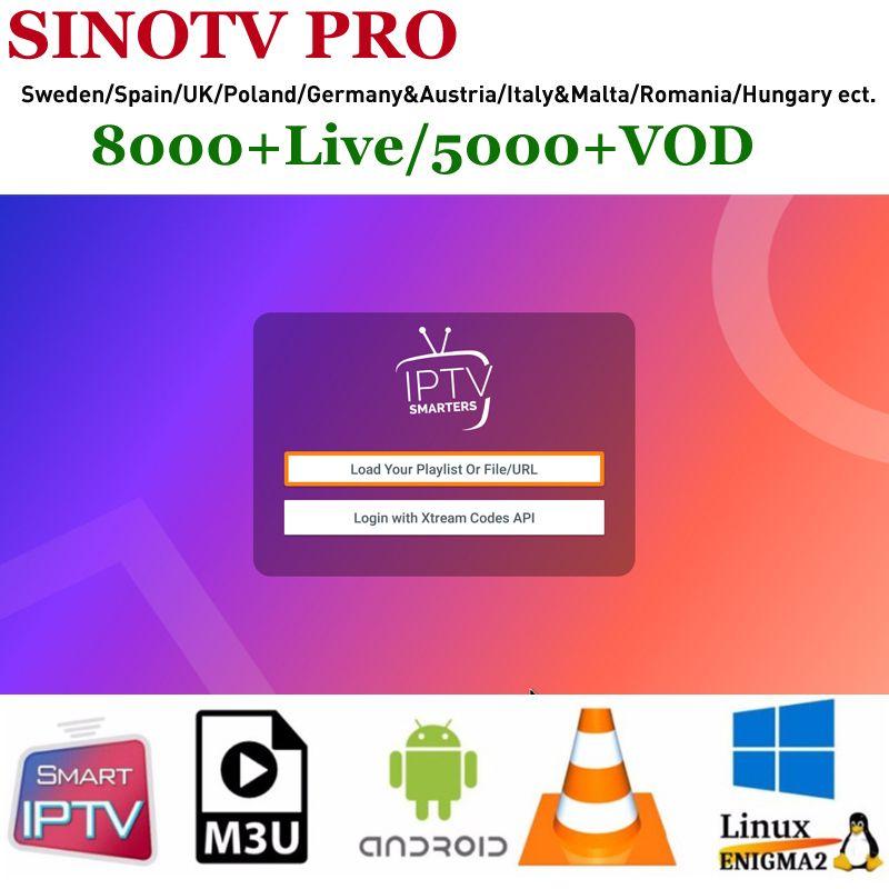 Best Scandinavian IPTV SINOTV PRO 8000+tv Sweden Spain IPTV and UK Poland  Czech Slovakia Hebrew Latino IP TV Swedish IPTV Europe