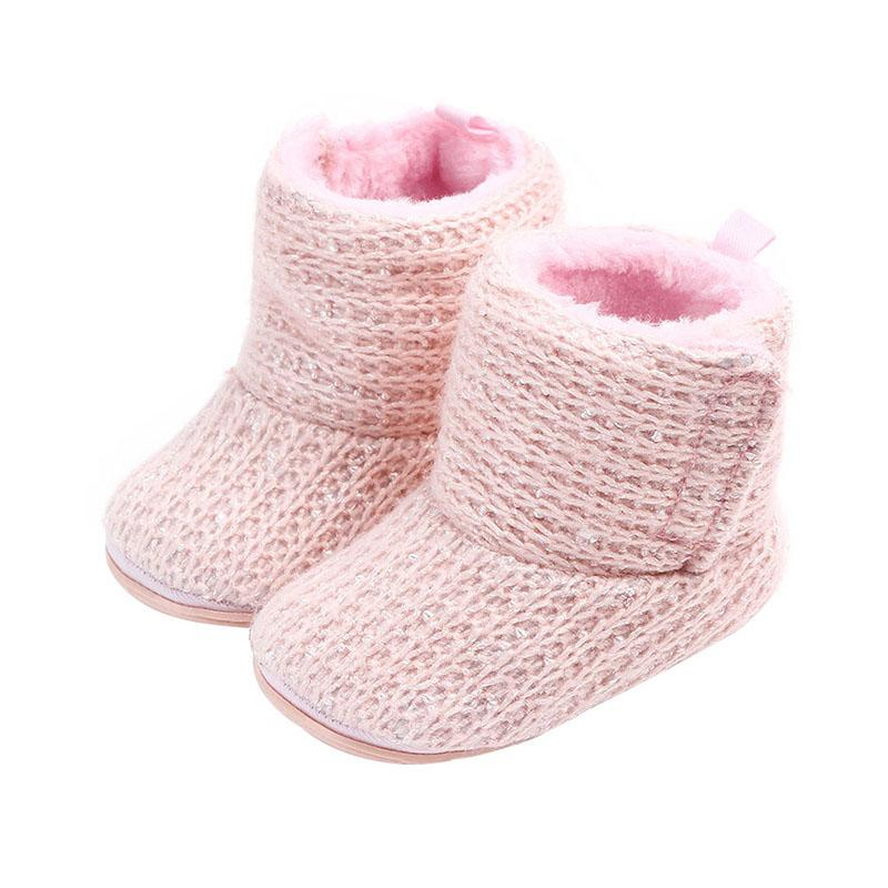 6e440af39 Compre Zapatos Para Bebés Bebés Calientes Zapatos De Invierno Algodón Bebé  Niña Botines Botas Sólidas Lindas A  34.78 Del Jeanyme