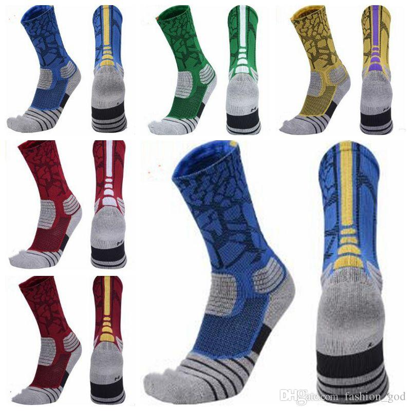 Socks Mens Sports Basketball Stockings Elite Skateboard Knee High Socks Fashion Athletic Socks Calcetines Hosiery Anklet Men Underwear 4788