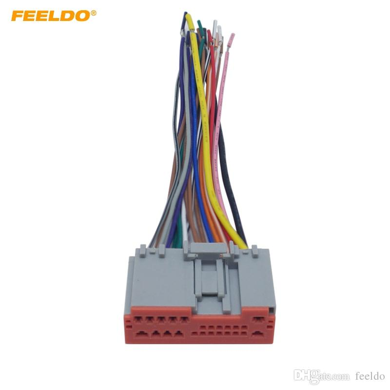 2019 FEELDO Car Radio Player Wiring Harness Audio Stereo Wire ... on obd0 to obd1 conversion harness, engine harness, pet harness, safety harness, electrical harness, amp bypass harness, maxi-seal harness, alpine stereo harness, radio harness, suspension harness, battery harness, cable harness, fall protection harness, nakamichi harness, oxygen sensor extension harness, pony harness, dog harness,