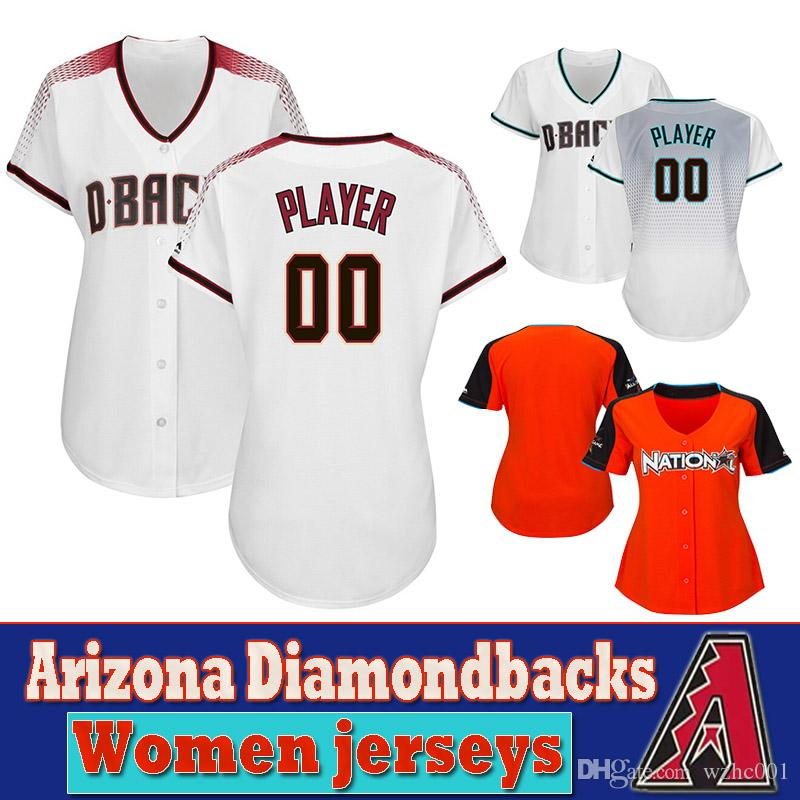 pretty nice 7f395 3b342 Custom Arizona womens Jersey Diamondbacks Ketel Marte & Zack Greinke & Adam  Jones & Alex Avila Baseball Jerseys