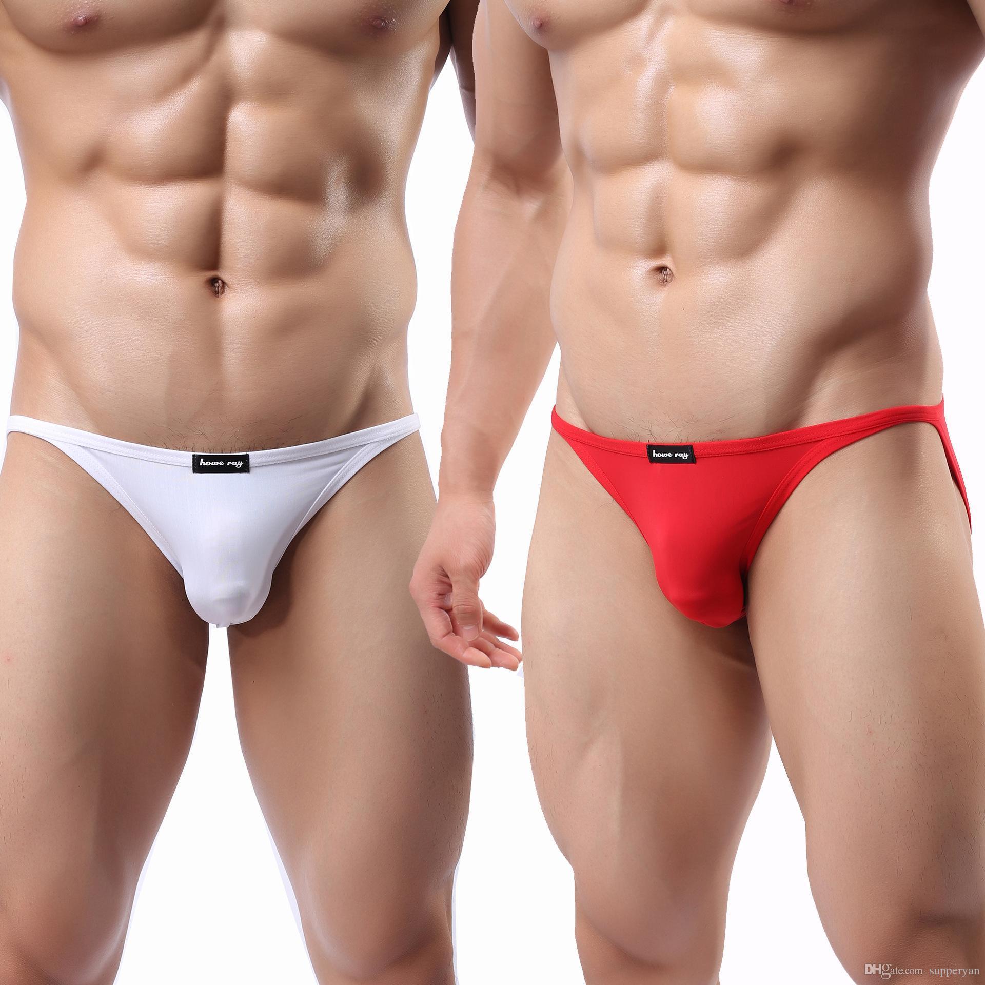 58afe9803 Acquista Uomini Di Marca Intimo Pene J190113 Sexy Uomo Bikini Slip  Mutandine Maschili Cueca Gay Biancheria Intima Calzoncillos Hombre Scivola  Colore Della ...