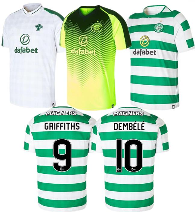a146a9cbf 2019 Top Thai Version Quality AAA Celtic 18 19 Second Away Jersey ROBERTS 7  BROWN GRIFFITHS SINCLAIR 10 DEMBELE FORREST 2019 Football Uniform From  Huang2019 ...