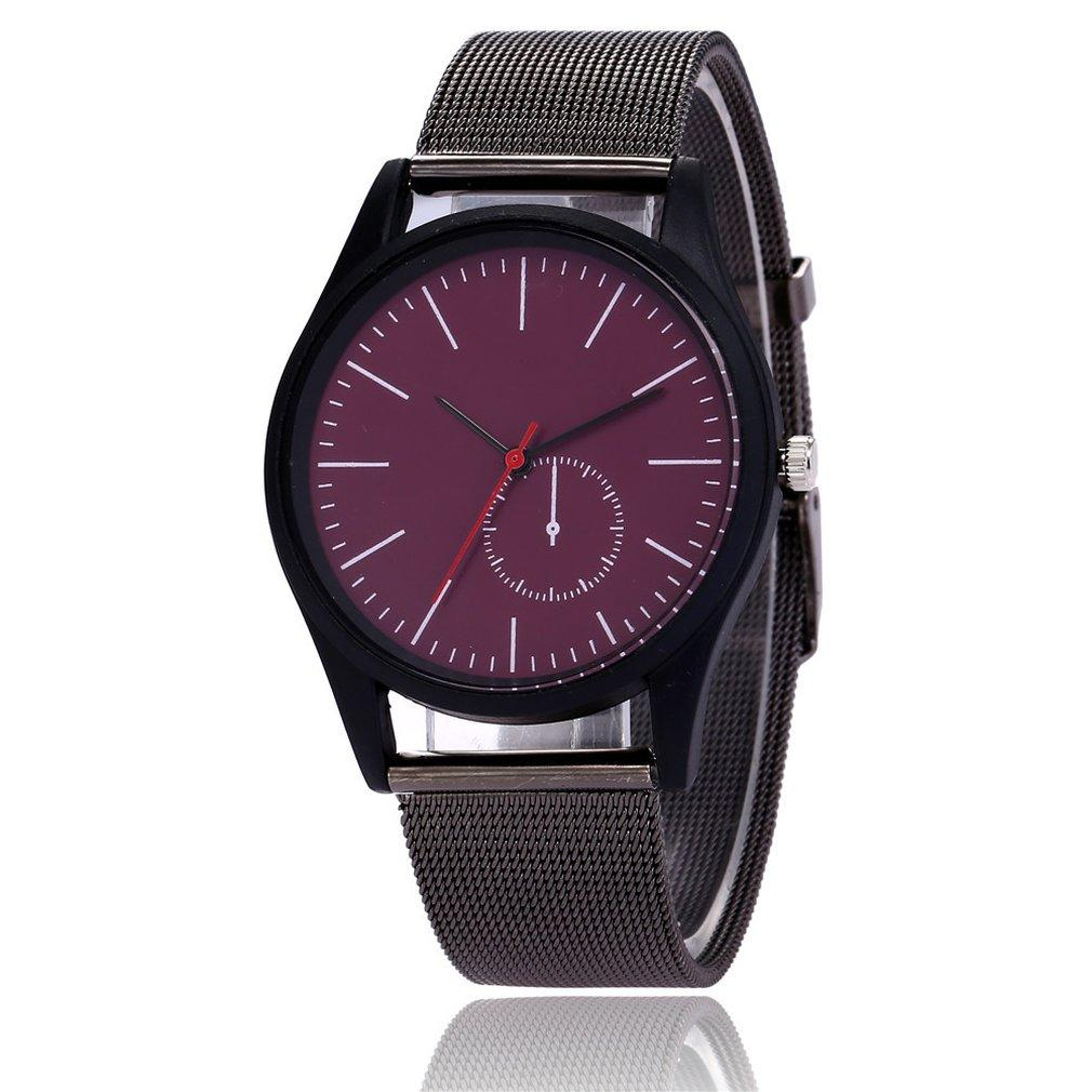 SC237 Cool Black Men's Alloy Mesh Belt Watch Casual Fashion Men Quartz Watch Personality Wild Best Gift