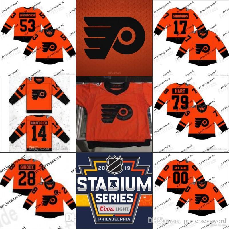 new concept 3f7c3 5131e Philadelphia Flyers 2019 Stadium Series Jerseys 11 Travis Konecny 17 Wayne  Simmonds 53 Shayne Gostisbehere 93 Jakub Voracek Hockey Jerseys