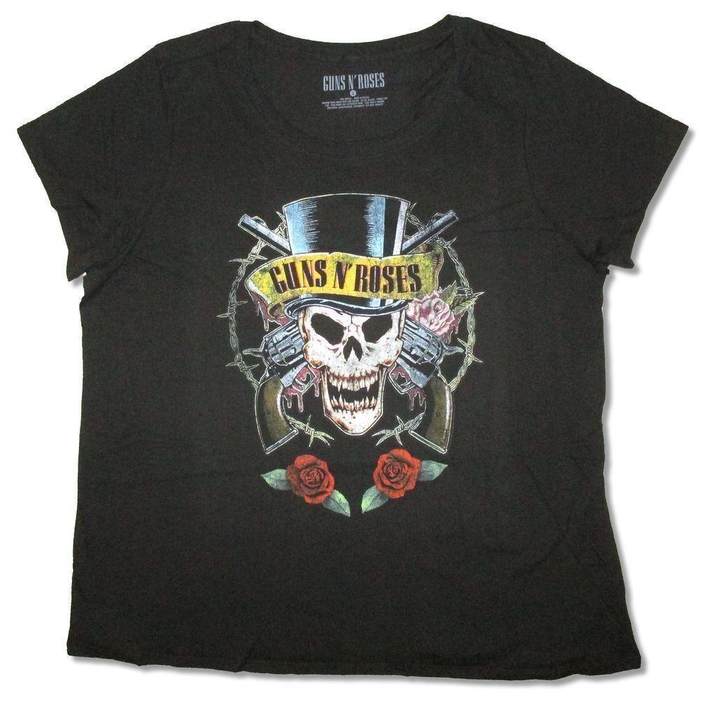 9cda1b03e40 Guns N Roses Top Hat This Lifetime Ladies Plus Size Black T Shirt New  Official Print T Shirt Slogan T Shirts From Peng02