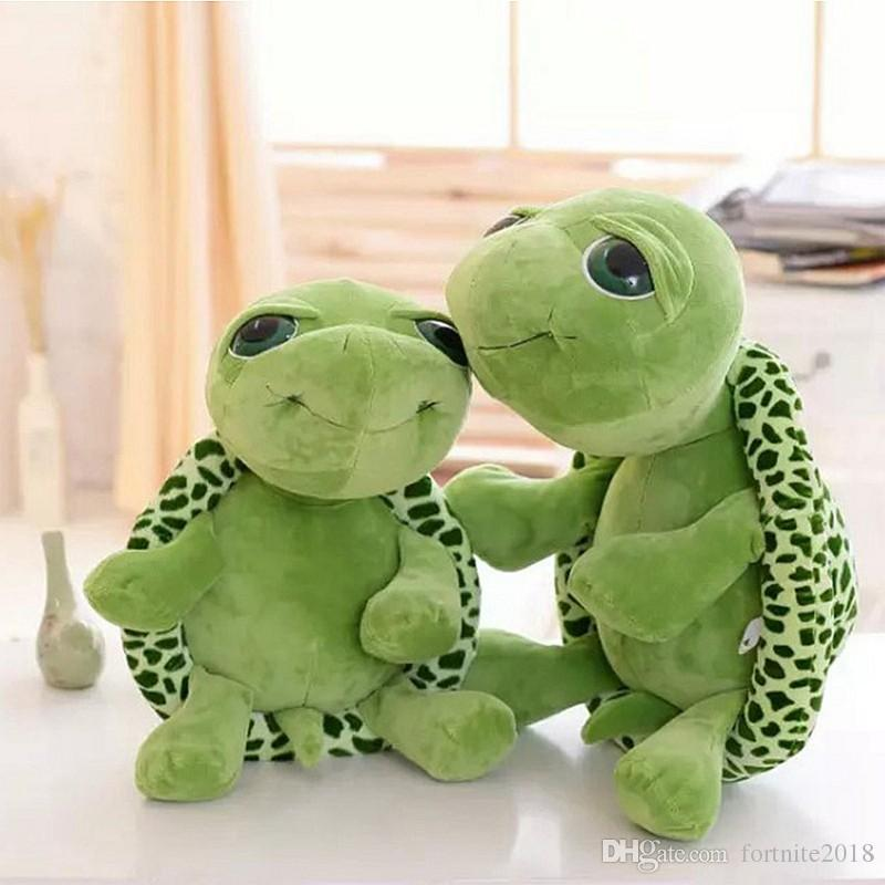 2019 20cm Super Green Tortoise Big Eyes Turtle Stuffed Toys Animal